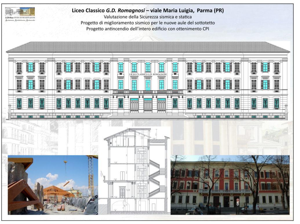 Liceo Classico G.D. Romagnosi – viale Maria Luigia, Parma (PR)