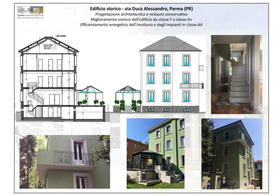 Edificio storico - via Duca Alessandro, Parma (PR)