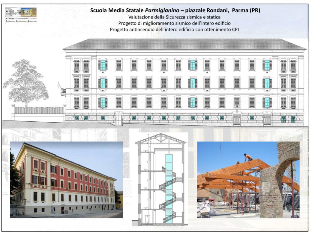 Scuola Media Statale Parmigianino – piazzale Rondani, Parma (PR)