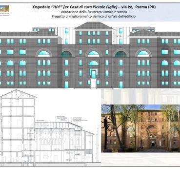 """Ospedale ''HPF"""" (ex Casa di cura Piccole Figlie) – via Po, Parma (PR)"""